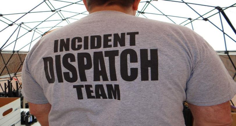 Man with Incident Dispatch Team on T-Shirt