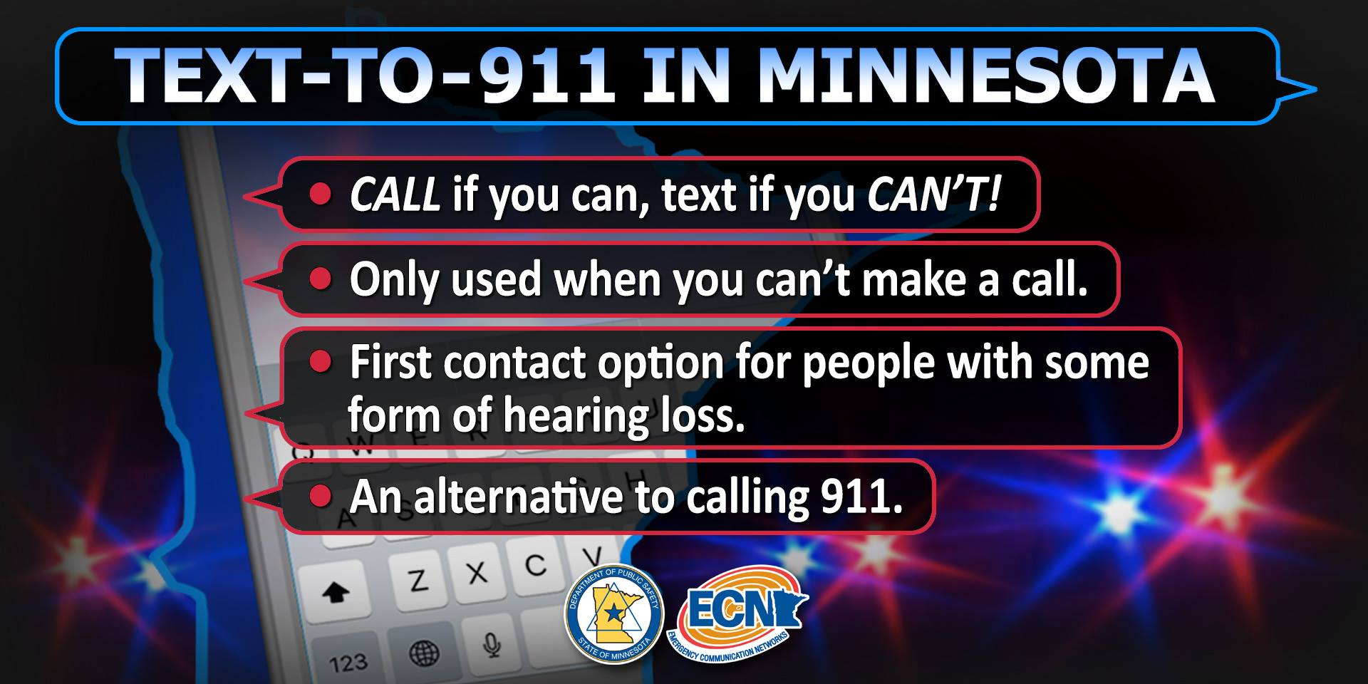 Text-to-911 in Minnesota